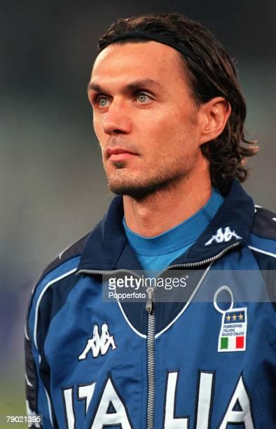 Football Friendly International Turin 15th November Italy 1 v England 0 Italian captain Paolo Maldini