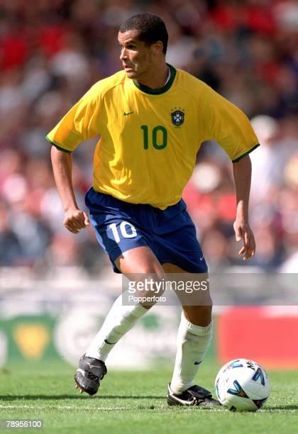 Football Friendly International Wembley 27th May England 1 v Brazil 1 Brazil's Rivaldo on the ball