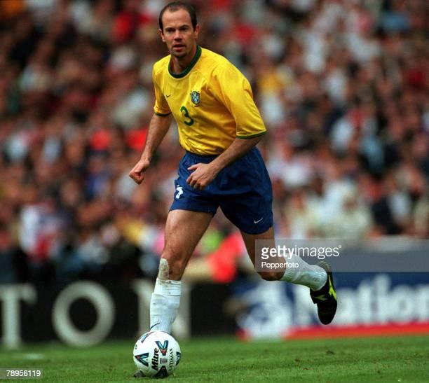Football Friendly International Wembley 27th May England 1 v Brazil 1 Brazil's Antonio Carlos on the ball