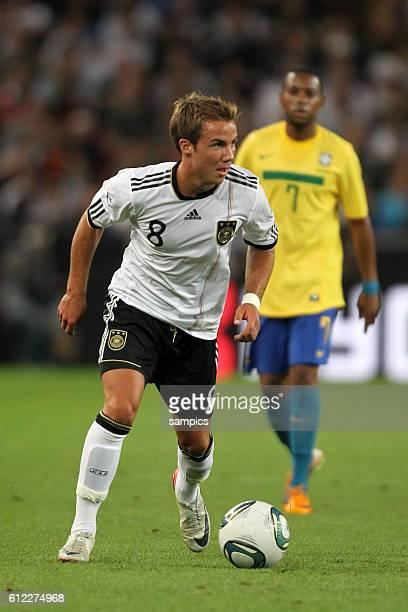 Mario Götze Goetze Deutschland Fussball Nationalmannschaft FReundschaftsspiel Deutschland Brasilien 3 2 1082011 football friendly match Germany Brasil