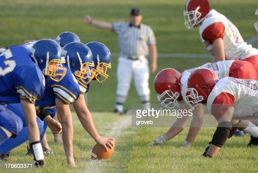 Football Game line of scrimage