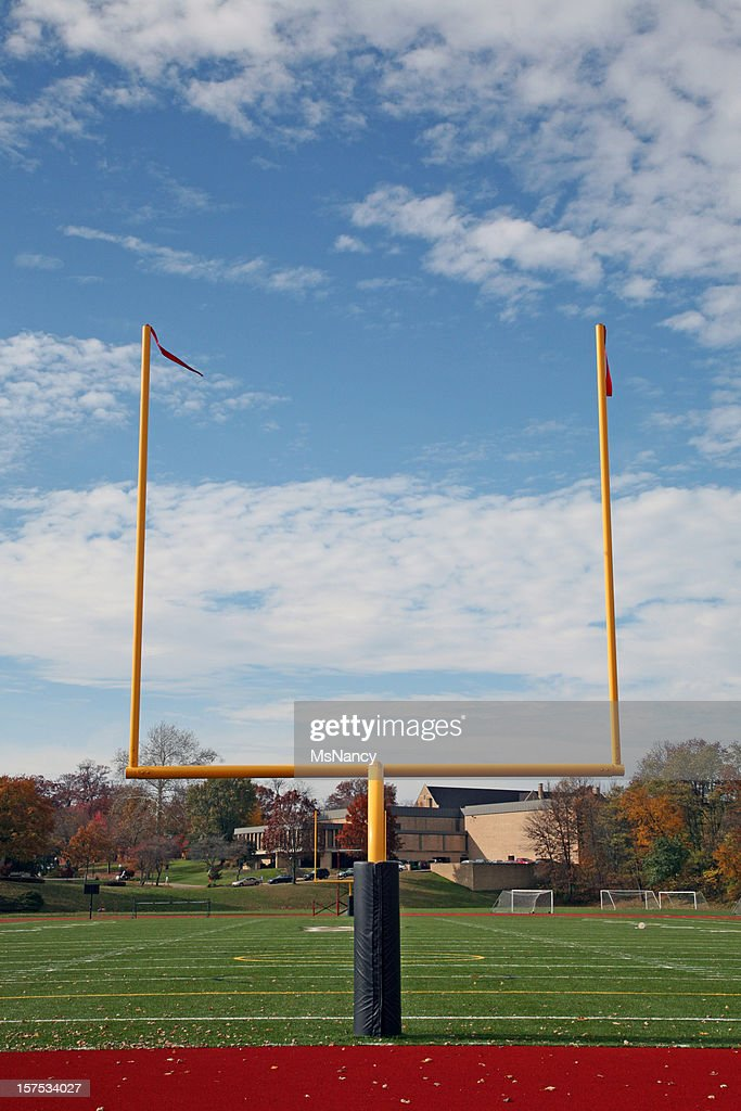 Football Goal Post And Fall Background