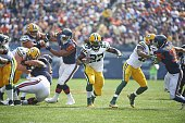 Green Bay Packers Eddie Lacy in action rushing vs Chicago Bears at Soldier Field Chicago IL CREDIT David E Klutho