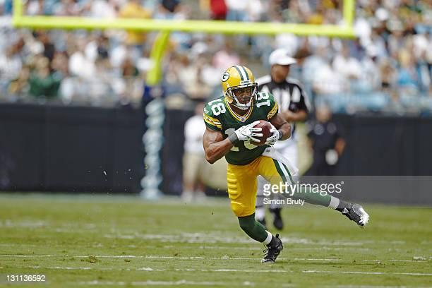 Green Bay Packers Randall Cobb in action vs Carolina Panthers at Bank of America Stadium Charlotte NC CREDIT Simon Bruty