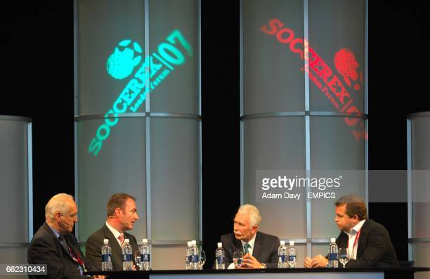 Football League chairman Lord Mawhinney Ian Penrose CEO Sporttech PLC Dr Rogan Taylor Director of FIG Liverpool University and Dan Vikman PR...