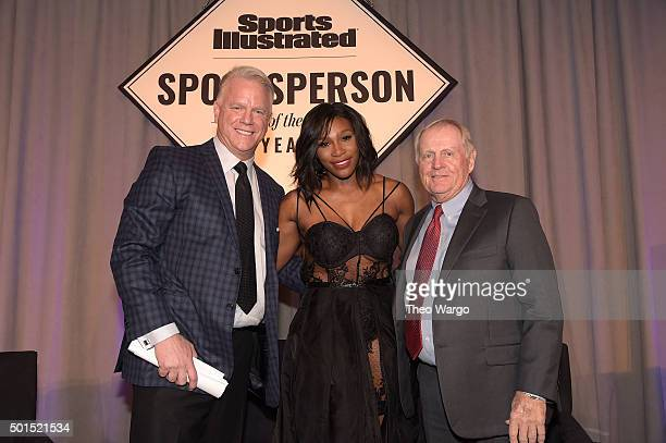 Football legend Boomer Esiason SI 2015 Sportsperson of the Year Serena Williams and SI Muhammad Ali Legacy Award Recipient Jack Nicklaus attend...
