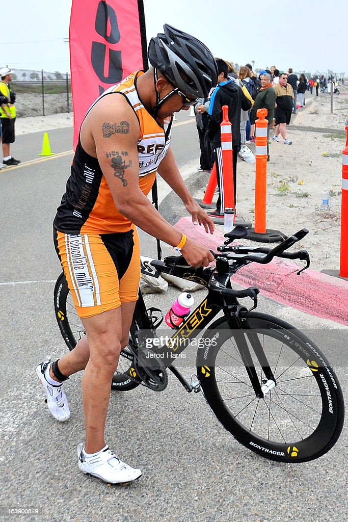 Football Legend Hines Ward tackles his first ever Triathlon along with REFUEL | 'Got Chocolate Milk?' on March 17, 2013 in San Diego, California.