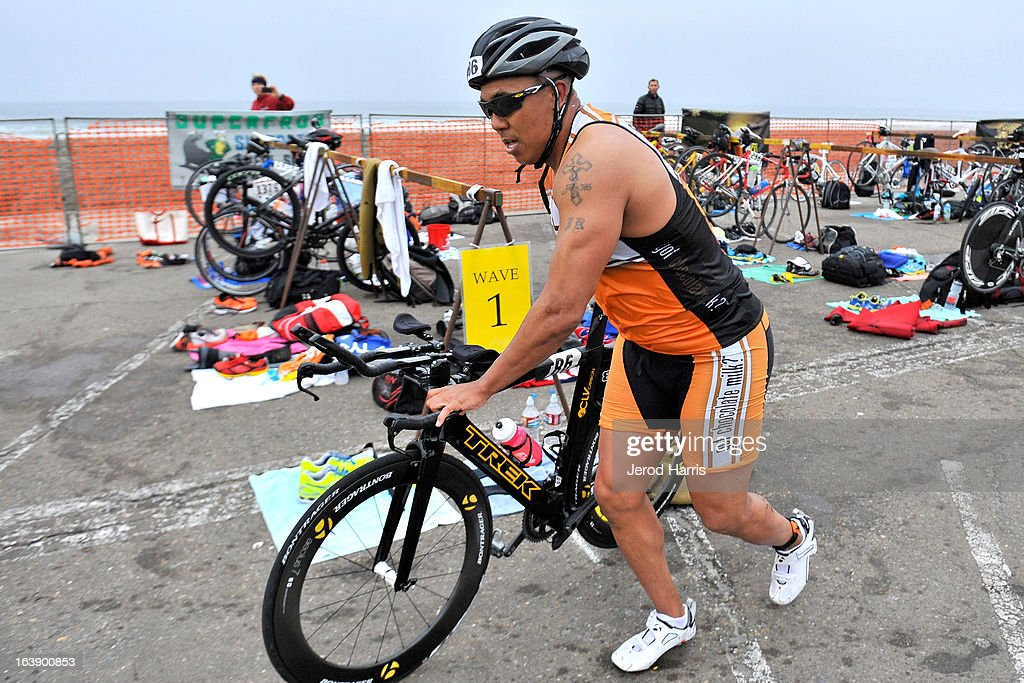 Football Legend <a gi-track='captionPersonalityLinkClicked' href=/galleries/search?phrase=Hines+Ward&family=editorial&specificpeople=202597 ng-click='$event.stopPropagation()'>Hines Ward</a> tackles his first ever Triathlon along with REFUEL | 'Got Chocolate Milk?' on March 17, 2013 in San Diego, California.