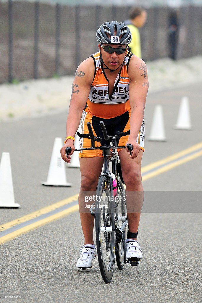Football Legend Hines Ward tackles his first ever triathlon with REFUEL | 'Got Chocolate Milk?' on March 17, 2013 in San Diego, California.