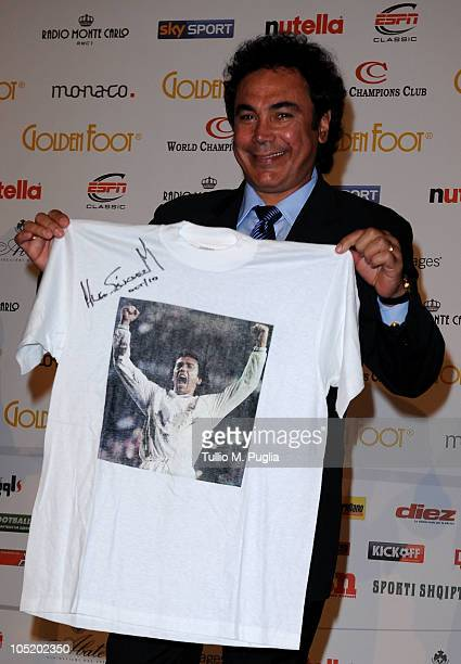 Football legend Hugo Sanchez during the Golden Foot Awards ceremony at Fairmont Hotel on October 11 2010 in Monaco Monaco