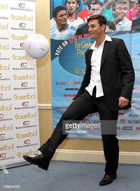 Football legend Javier Zanetti attends Golden Foot Awards previews on October 10 2011 in Monaco Monaco