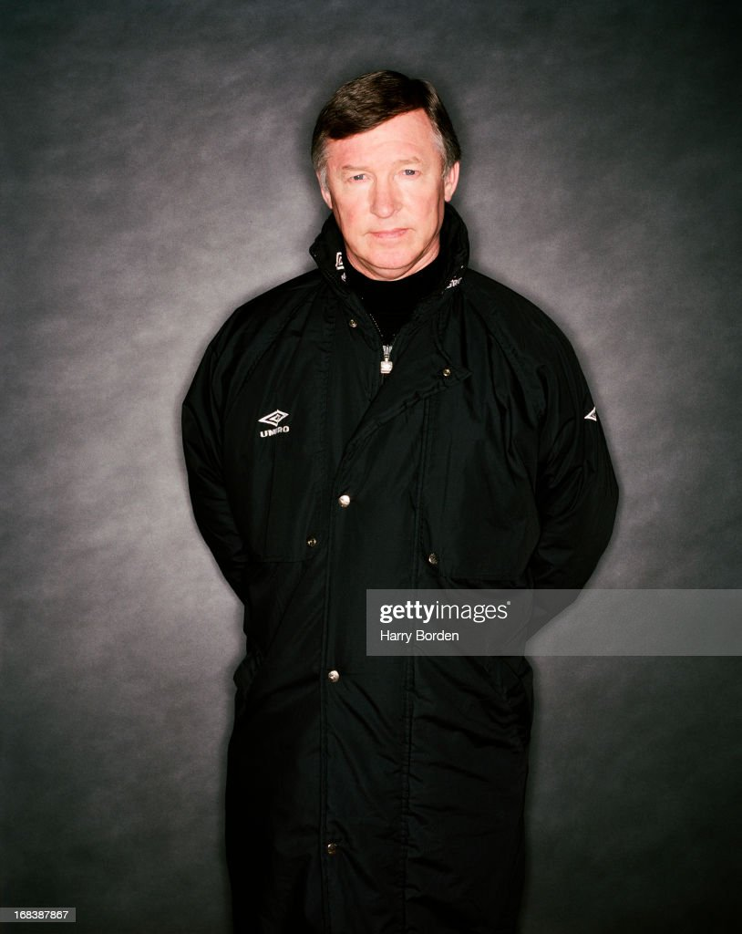 Football manager Alex Ferguson is photographed on January 26, 1999 in Manchester, England.