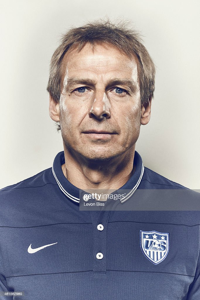 Football manager and former striker legend <a gi-track='captionPersonalityLinkClicked' href=/galleries/search?phrase=Jurgen+Klinsmann&family=editorial&specificpeople=228023 ng-click='$event.stopPropagation()'>Jurgen Klinsmann</a> is photographed for Time magazine on March 3, 2014 in Frankfurt, Germany.
