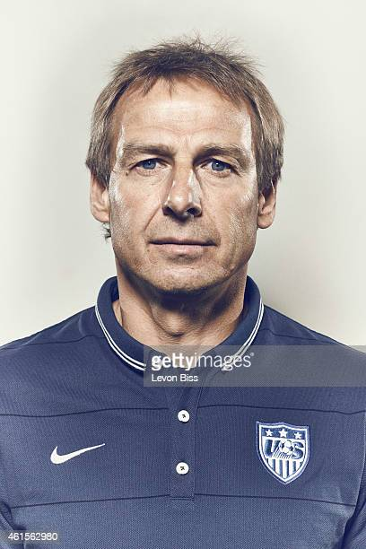 Football manager and former striker legend Jurgen Klinsmann is photographed for Time magazine on March 3 2014 in Frankfurt Germany