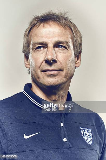 Football manager and former striker legend Jurgen Klinsmann is photographed for Time magazine on March 3 2014 in Frankfurt Germany