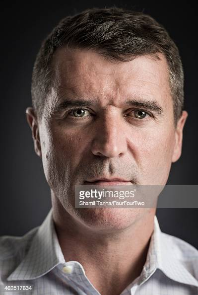 Football manager and pundit Roy Keane is photographed for FourFourTwo magazine on April 19 2014 in London England
