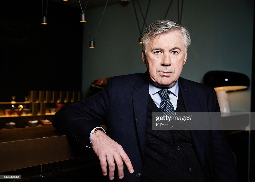 Football manager Carlo Ancelotti is photographed for Goal.com on February 16, 2016 in London, England.
