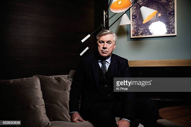 Football manager Carlo Ancelotti is photographed for Goalcom on February 16 2016 in London England