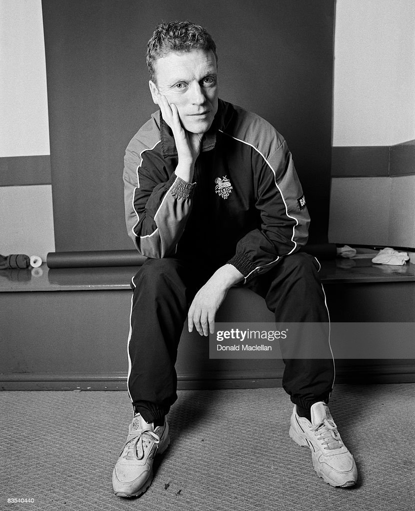 Football manager David Moyes poses for a portrait shoot in Liverpool, 5th August 2001.
