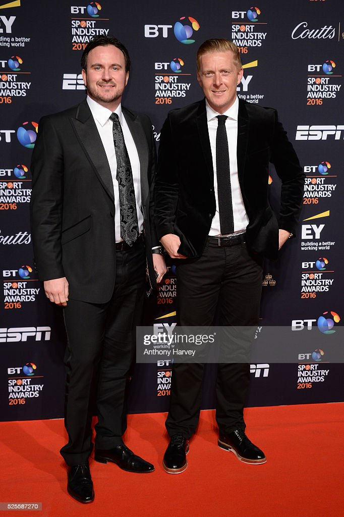 Football manager <a gi-track='captionPersonalityLinkClicked' href=/galleries/search?phrase=Garry+Monk&family=editorial&specificpeople=860353 ng-click='$event.stopPropagation()'>Garry Monk</a> (R) and guest pose on the red carpet at the BT Sport Industry Awards 2016 at Battersea Evolution on April 28, 2016 in London, England. The BT Sport Industry Awards is the most prestigious commercial sports awards ceremony in Europe, where over 1750 of the industry's key decision-makers mix with high profile sporting celebrities for the most important networking occasion in the sport business calendar.
