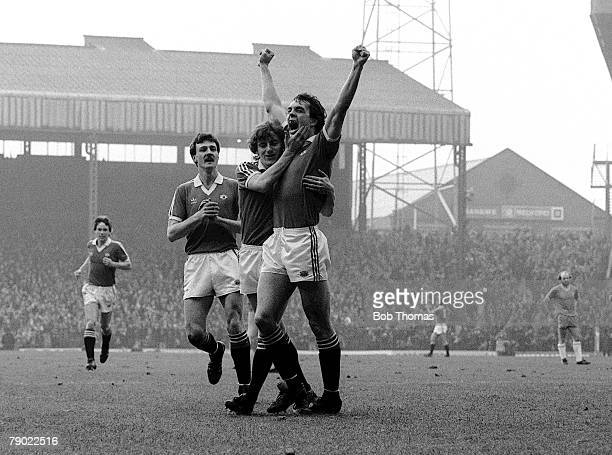 Football Manchester England League Division One 31st January 1981 Manchester United 2 v Birmingham City 0 Manchester United's Joe Jordan is...