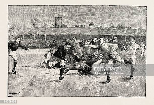 Football Match Between England And Scotland In The Athletic Grounds Richmond London Uk 1891