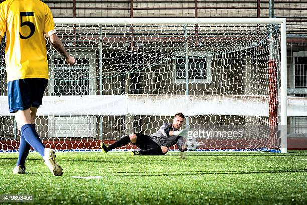 match de Football au stadium: Manqué penalty