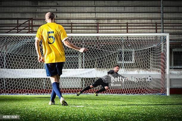 Fußballspiel im stadium: Stornierungsgebühr kick