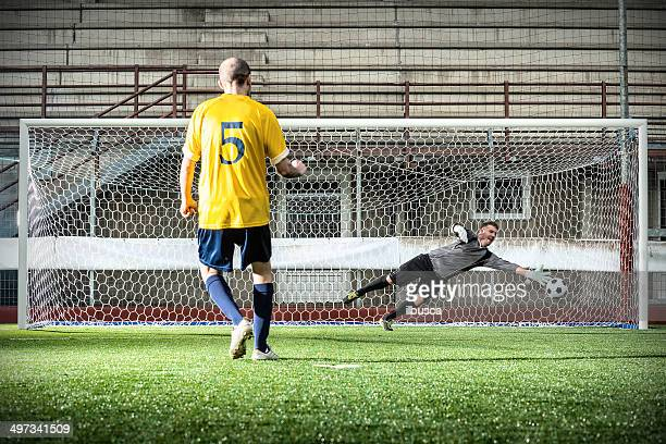 match de Football au stadium: Penalty