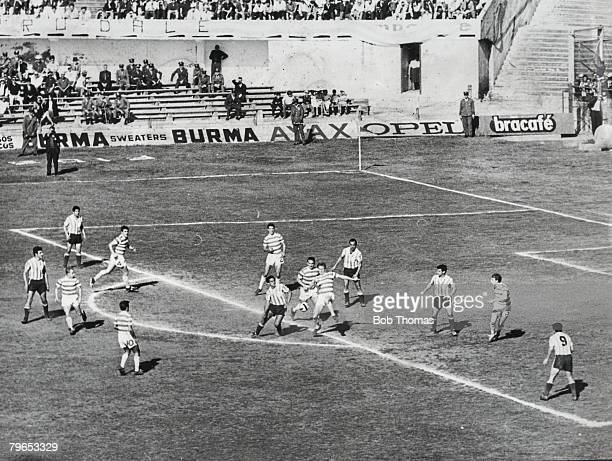 Football Montevideo Uruguay November 1967 World Club Championship Playoff Racing Club of Argentina 1 v Celtic 0 Action during the match