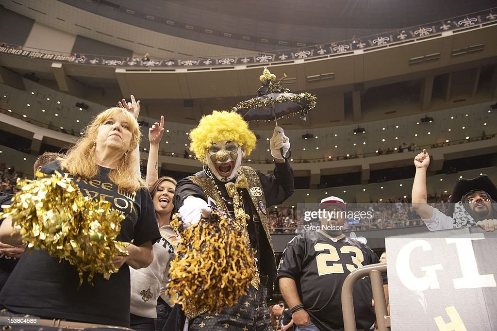 New Orleans Saints fans in stands during game vs San Diego Chargers at Mercedes-Benz Superdome. Greg Nelson F101 )