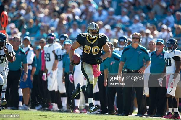 New Orleans Saints Jimmy Graham in action vs Jacksonville Jaguars at EverBank Field Jacksonville FL CREDIT Bill Frakes
