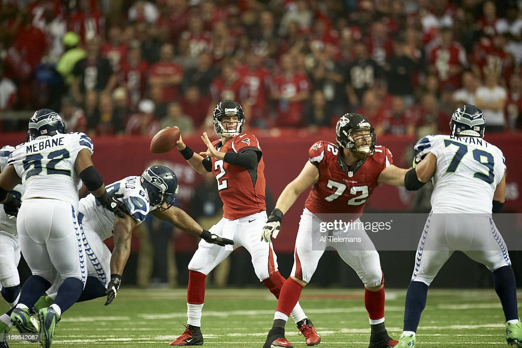 Atlanta Falcons QB Matt Ryan (2) in action vs Seattle Seahawks at Georgia Dome. Al Tielemans F43 )
