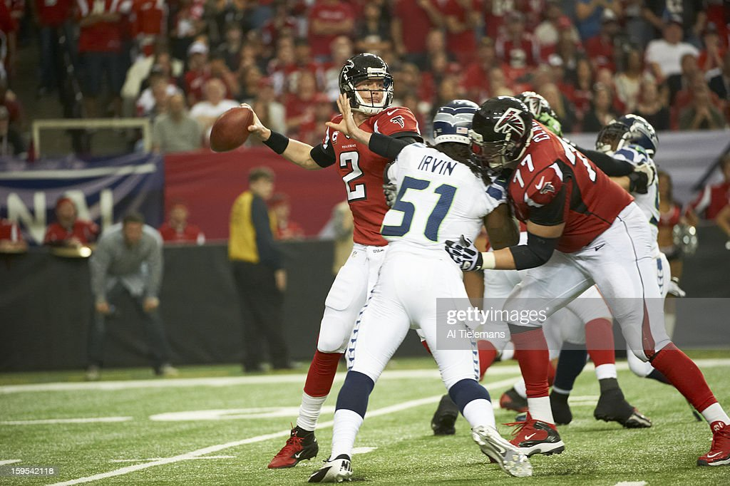 Atlanta Falcons QB Matt Ryan (2) in action vs Seattle Seahawks at Georgia Dome. Al Tielemans F177 )