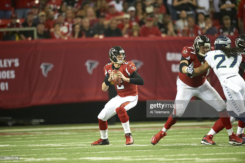 Atlanta Falcons QB Matt Ryan (2) in action vs Seattle Seahawks at Georgia Dome. Al Tielemans F416 )