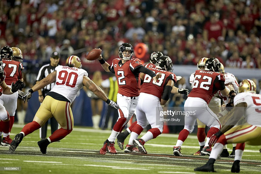 Atlanta Falcons QB Matt Ryan (2) in action vs San Francisco 49ers at Georgia Dome. Simon Bruty F158 )