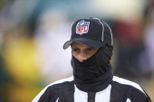 NFC Playoffs Closeup of official during Green Bay Packers vs San Francisco 49ers game at Lambeau Field Green Bay WI CREDIT Tom Lynn