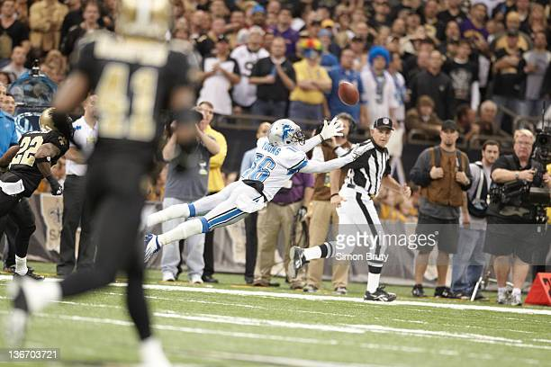 NFC Playoffs Detroit Lions Titus Young in action incomplete pass vs New Orleans Saints at MercedesBenz Superdome New Orleans LA CREDIT Simon Bruty