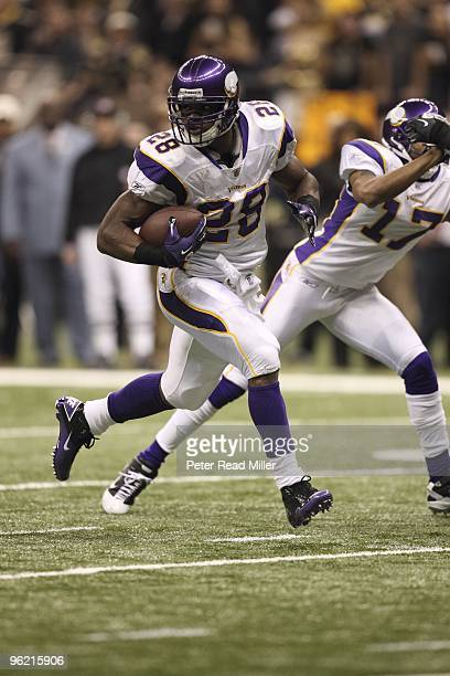 NFC Playoffs Minnesota Vikings Adrian Peterson in action vs New Orleans Saints New Orleans LA 1/24/2010 CREDIT Peter Read Miller