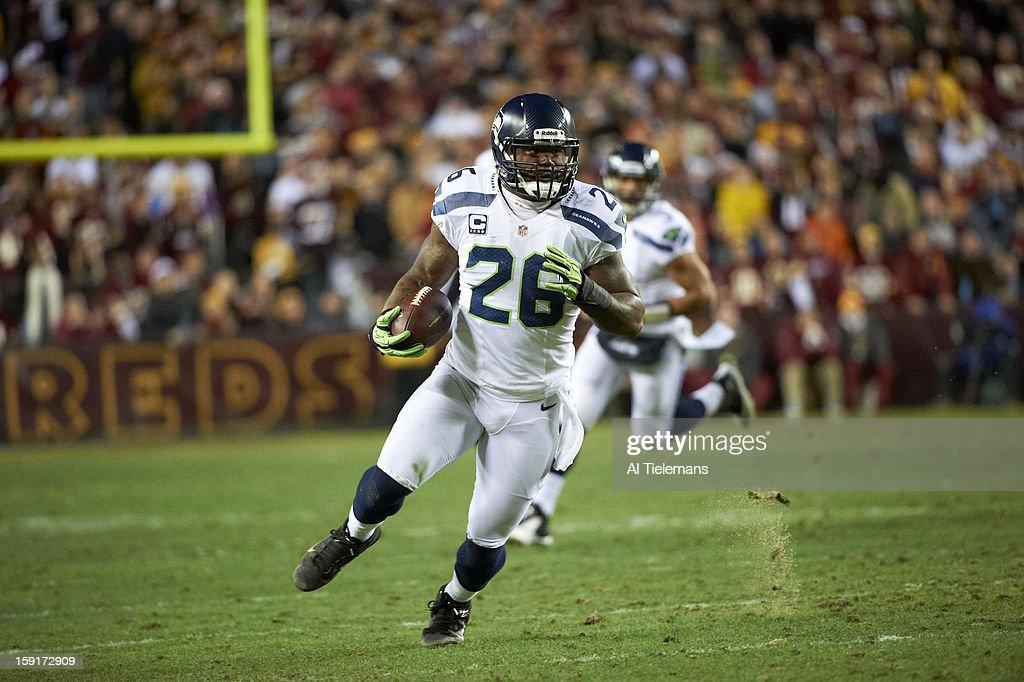 Seattle Seahawks Michael Robinson (26) in action, rushing vs Washington Redskins at FedEx Field. Al Tielemans F71 )
