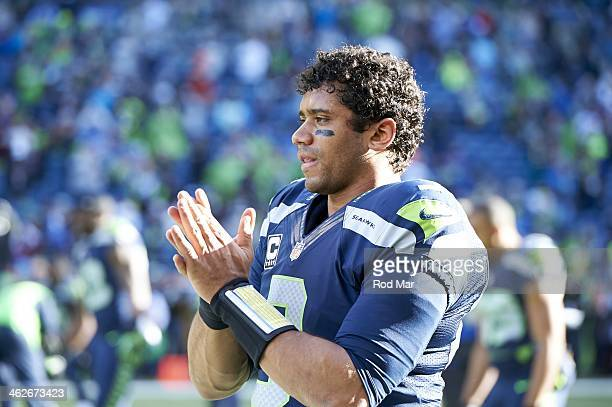 NFC Playoffs Seattle Seahawks QB Russell Wilson during game vs New Orleans Saints at CenturyLink Field Seattle WA CREDIT Rod Mar
