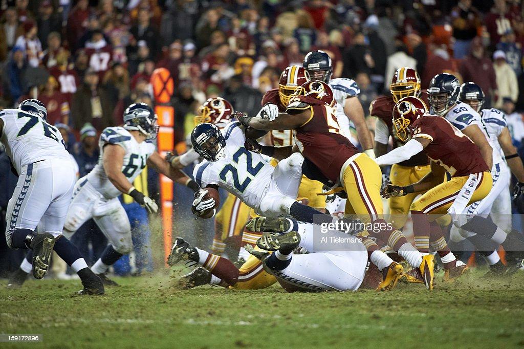 Seattle Seahawks Robert Turbin (22) in action vs Washington Redskins at FedEx Field. Al Tielemans F8 )