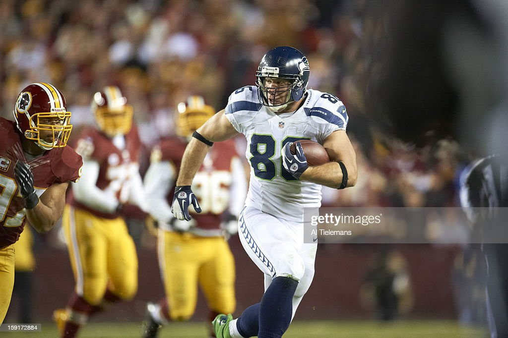 Seattle Seahawks Zach Miller (86) in action vs Washington Redskins at FedEx Field. Al Tielemans F408 )