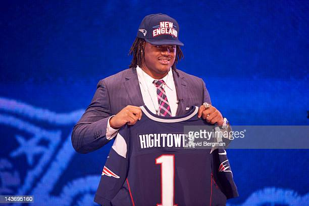NFL Draft New England Patriots LB and No 25 overall pick Dont'a Hightower during selection process at Radio City Music Hall New York NY CREDIT David...