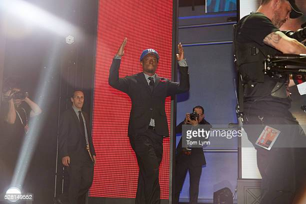 NFL Draft New York Giants cornerback and No 10 overall pick Eli Apple on stage during selection process at Auditorium Theatre of Roosevelt University...