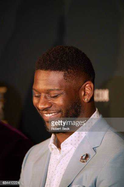 NFL Honors Closeup of former NFL running back LaDainian Tomlinson during award ceremony at Wortham Theater Tomlinson is being inducted into the Pro...
