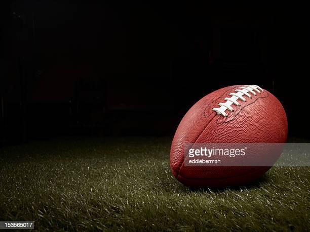 football on a grass field