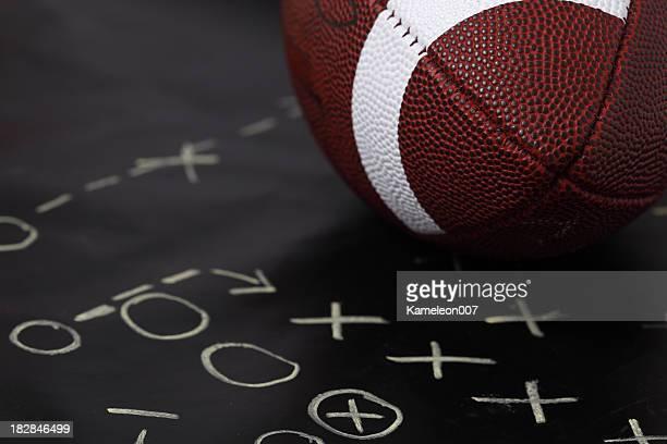 Football on playboard