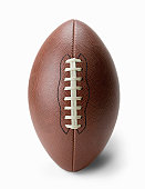 Football on white background