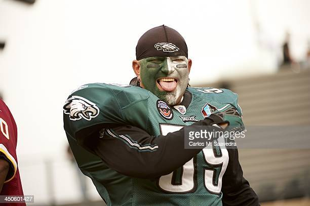 Philadelphia Eagles fan Shawn Young in stands during game vs Washington Redskins at Lincoln Financial Field Philadelphia PA CREDIT Carlos M Saavedra